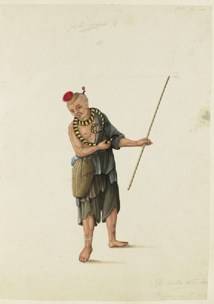 A Beggar with a Serpent