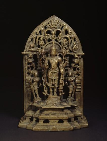 Shrine with figure of Vishnu