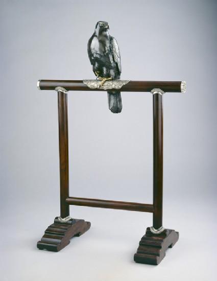 Figurine of hawk on a perch