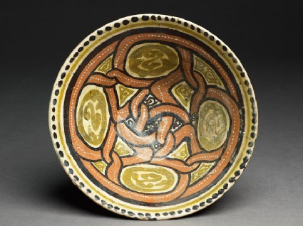 Bowl with interlacing medallions