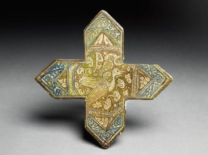 Cross tile with bird