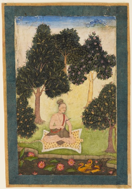 Yogini in the forest