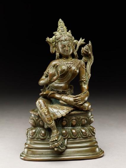 Seated figure of a female deity, probably Tara