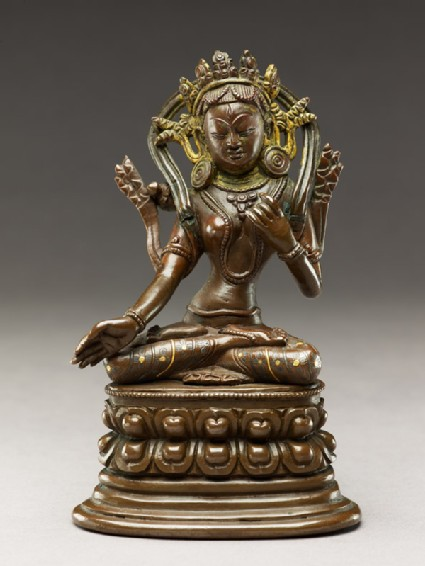 Seated figure of a female deity