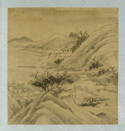 Landscape with houses among the mountains