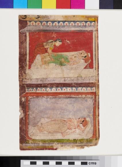 Two bedchamber scenes