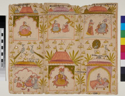 Six scenes from a story of a Raja and a Queen
