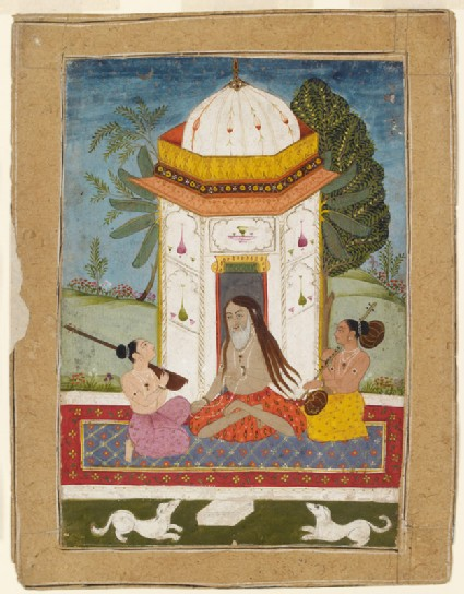 Yogi listening to music, illustrating the musical mode Kedara Ragini