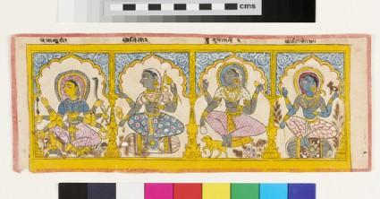 Recto: Four goddesses  <br />Verso: Four goddesses