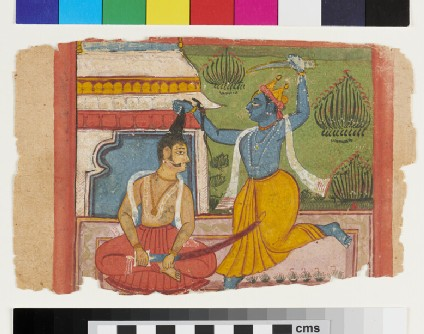 Krishna possibly slaying King Kansa