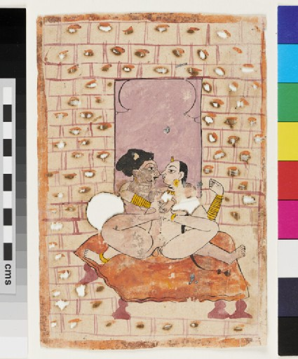 Rajput couple making love on a bed