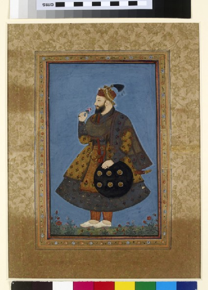 Standing portrait of Sultan Abu'l Hasan of Golconda