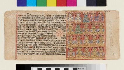 Manuscript page depicting twenty tirthankaras or Jinas
