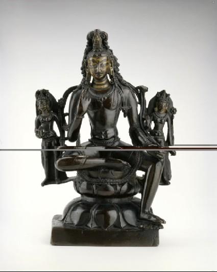 Figure of Padmapani with attendants