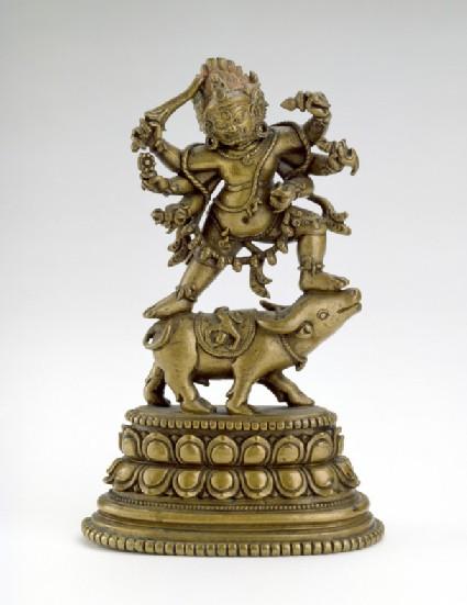 Figure of Yamantaka dancing on a buffalo