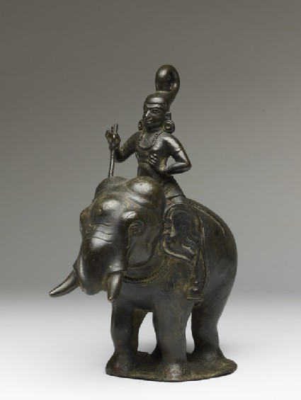 Figure of an elephant and rider from a hanging lamp