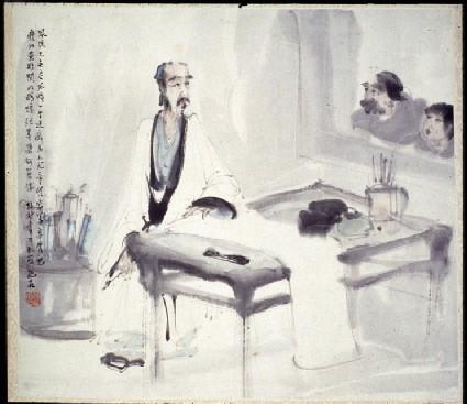 The scholar artist in his studio