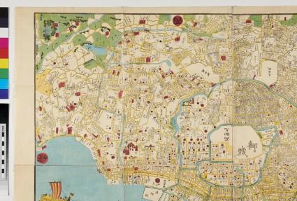 Hōei era map of Edo