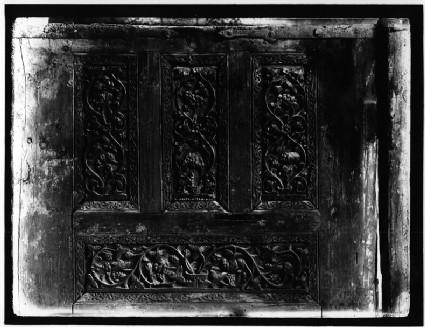Coptic Church of Santa Barbara: wooden door