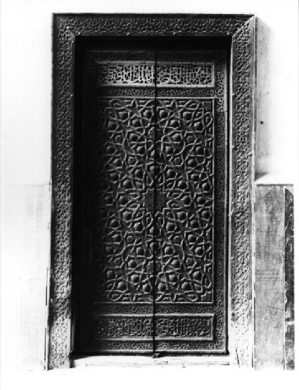 Mosque of Sultan Hasan, side door of qibla iwan