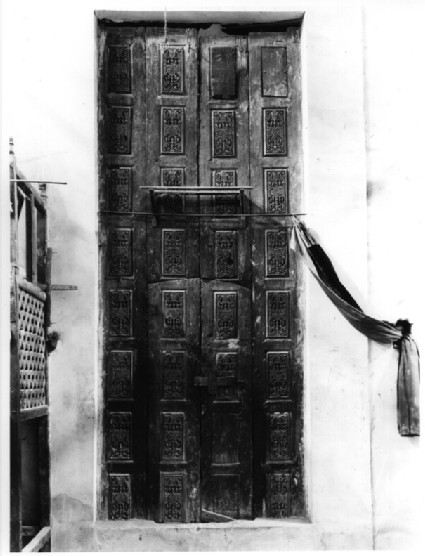 Wooden door at Dair Anba Bishoi