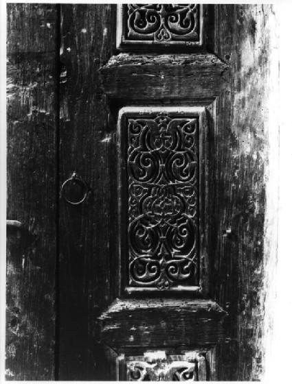 Wooden door at Dair Anba Bishoi