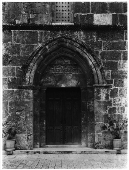 Church of St. Anne, West Door and inscription of Salah al-Di