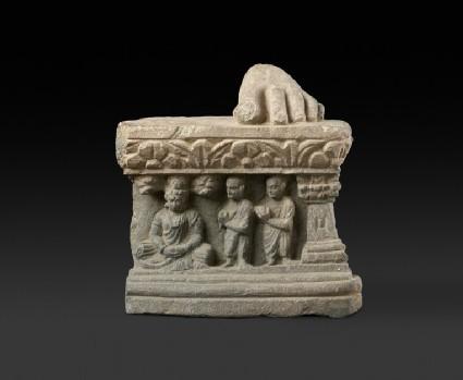 Pedestal fragment with the bodhisattva Siddhartha