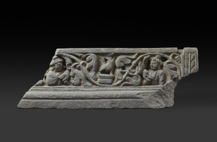 Frieze fragment depicting bird and figures