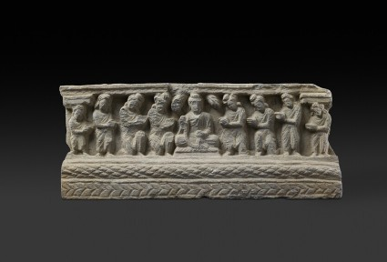 Relief fragment depicting the Buddha and his worshippers