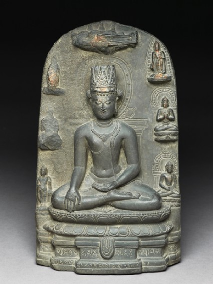 Seated figure of a bodhisattva
