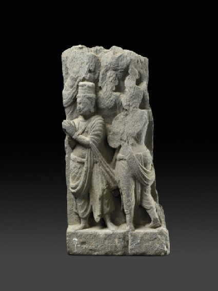 Relief fragment depicting worshippers