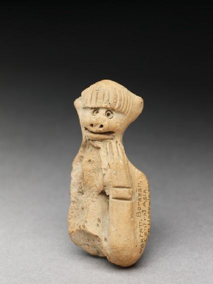 Terracotta figure of a monkey