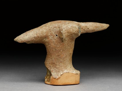 Terracotta head of an animal, possibly an antelope