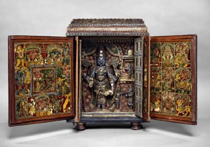Portable shrine of Vishnu as Venkateshwara