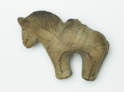 Terracotta figure of a horse and rider