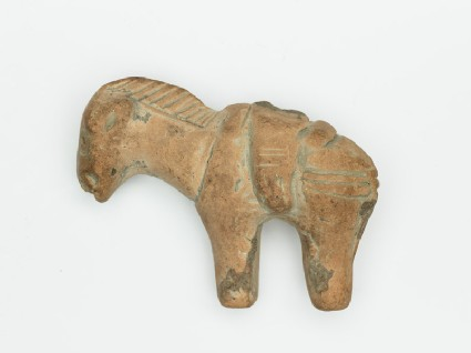 Figure of horse with saddle