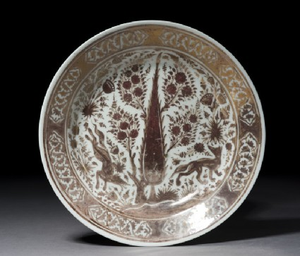 Dish with foxes