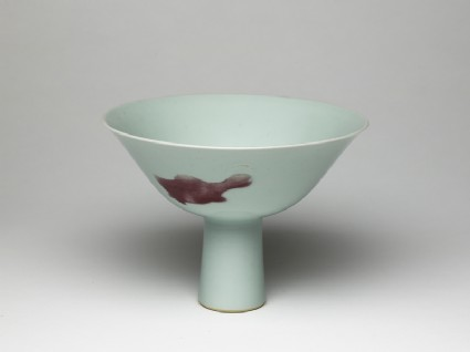 Stem cup with fish