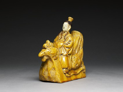 Roof ornament in the form of a figure riding a hen