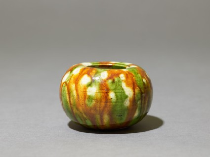 Jar with three-colour glaze