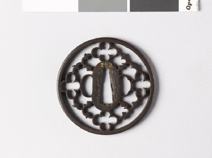 Round tsuba with karigane, or flying geese