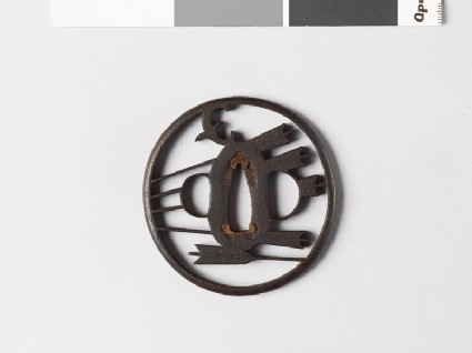 Tsuba with arrows and myōga, or ginger shoots