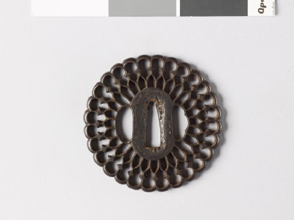 Tsuba in the form of a flower