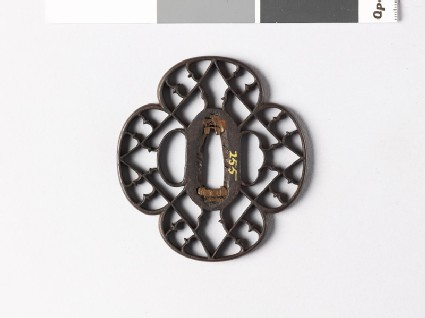 Mokkō-shaped tsuba with karigane, or flying geese
