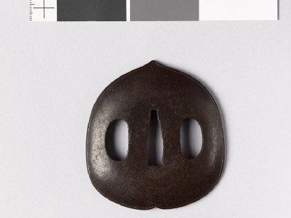 Tsuba in the form of a chestnut