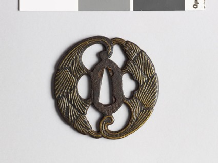 Tsuba with myōga, or ginger shoots