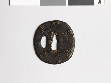 Tsuba with scattered plum-blossoms