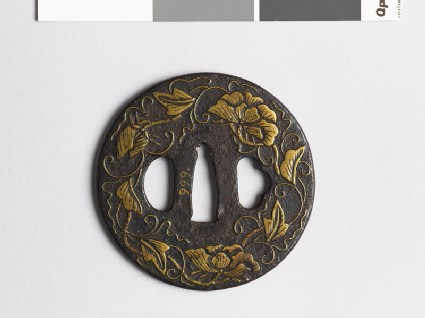 Tsuba with flowers and tendrils