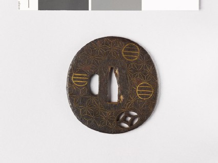 Tsuba with asanoha, or stylized hemp leaves